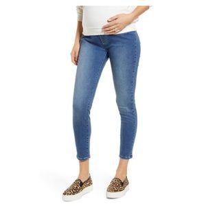 ANGEL MATERNITY High Waist Crop Jeans - Size XL